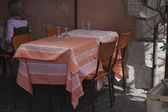 Table and chairs in a restaurant — Stock Photo