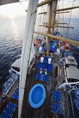 Clipper ship in the sea — Stock Photo