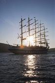 Clipper ship in a sea — Stock Photo