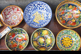 Display of ceramics crockery — Stock Photo