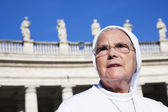 Nun, Berninis Column — Stock Photo