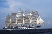 Clipper ship in the sea — Fotografia Stock