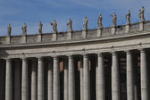 Berninis columns at St. Peters Square — Stock Photo