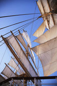Sail of a clipper ship — Stock Photo