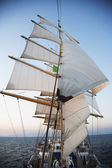 Clipper ship in the sea — Foto Stock