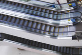 Escalators in a shopping mall — Stock Photo