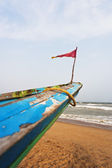 Small flag on a fishing boat — Stock Photo