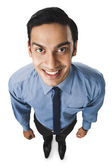 Bengali businessman smiling — Stock Photo