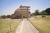 Ancient stupa at Sanchi — Stock Photo