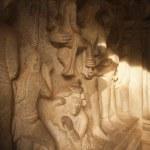 Carving details of Varaha saving the Goddess Earth — Stock Photo #33138377