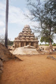 Ancient Pancha Rathas temple — Stock Photo
