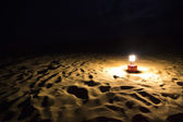 Lantern on sand dune, Jaisalmer — Stockfoto