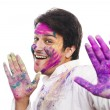 Stock Photo: Mcelebrating Holi