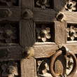 Stock Photo: Detail of door, Jaisalmer Fort