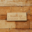 Sign on fort wall, Jaisalmer Fort — Foto Stock #33260937