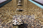 Pebbles in an artificial pond — 图库照片
