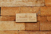 Sign on fort wall, Jaisalmer Fort — 图库照片