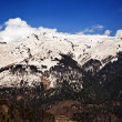 Stock Photo: Snowcapped mountain range