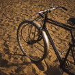 Stock Photo: Cycle rickshaw on sand