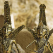 Antique metal sculptures — Stock Photo