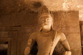 Statue at Elephanta Caves — Stock Photo