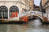 Footbridge over a canal — Stock Photo