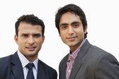 Two businessmen smiling — Stock Photo