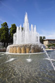 Fountain at Castello Sforzesco — Stock Photo