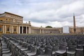 Empty seats at St. Peter's Square — Stock Photo