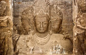 Trimurti sculpture at Elephanta Caves — Stock Photo