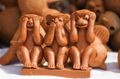 Sculptures for sale at souvenir shop — Stock Photo