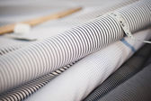 Close-up of spools of fabric — Stock Photo