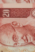 Close-up of Indian twenty rupee banknote — Stock Photo