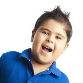 Portrait of a boy laughing — Stock Photo