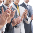 Foto de Stock  : Business executives applauding