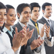 Stock Photo: Business executives applauding