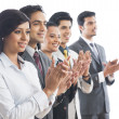 Foto Stock: Business executives applauding
