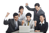 Business executives celebrating their success — Stock Photo