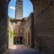 Tower viewed through arch — Stock Photo #38049847