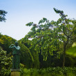 Statue in the garden — Stock Photo