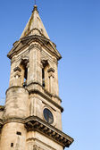 Low angle view of bell tower of a cathedral — Stock Photo