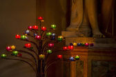 Candle stick tree in the church — Stock Photo