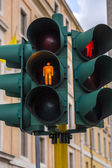 Close-up of a traffic light in a city — Stock Photo