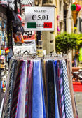 Ties for sale at a market stall — Foto Stock