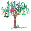 Stock Vector: 404 error message on tree
