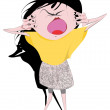 Stock Vector: Girl shouting