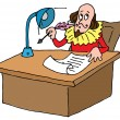 Stock Vector: Shakespeare's desk