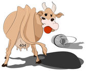 Cow spilled the milk — Vector de stock