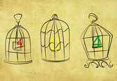 404 caught in the cage — Vector de stock