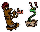耍蛇人 — 图库矢量图片
